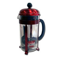 Bodum CHAMBORD  Coffee maker, 8 cup, 1.0 l, 34 oz Metallic red