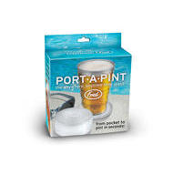 PORT-A-PINT FOLDING BEER GLASS the anytime anywhere beer glass