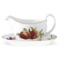 Portmeirion Royal Worcester Evesham Gold Sauce Boat & Stand