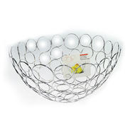 Spectrum Circle Shapes Round Fruit Bowl Chrome