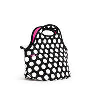 Built Gourmet Getaway Lunch Tote Black Polka Dots