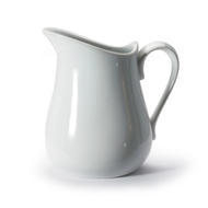 Pitcher, 17oz / 480ml, white, porcelain. Microwave & dishwasher safe.
