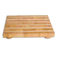 Butcher Block with Feet 13x18x2""