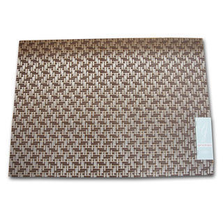 Gatherings Basket Weave Chocolate Silver Placemat
