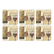 Pimpernel Coasters French Cellar, Set of Six 4.25x4.25