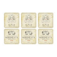Pimpernel Coasters Vin de France, Set of Six 4.25x4.25