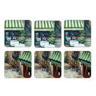 "Pimpernel Coasters - Trattoria, Set of Six,  4.25""x4.25"""