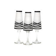Champagne Glass Shades Her Pearls set of 6