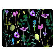 "Pimpernel Placemat Black Water Garden set of 4 12""x16"""