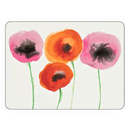 "Pimpernel Placemat Red Poppies set of 4 12""x16"""