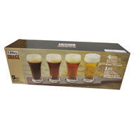 Libbey Craft Brews Beer Flight 6-ounce Clear Pilsner Glass Set, 5-piece
