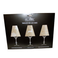 Wine Shades Set of 6 Burlap Christmas