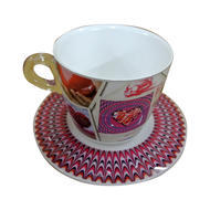 Plexart by Omada Love Pictures Cappuccino Cup and Saucer