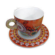 Plexart by Omada Mix Art Cappuccino Cup and Saucer