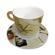Plexart by Omada Old Memories Cappuccino Cup and Saucer