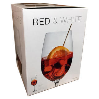 Nachman Red & White box of 4. Fine bavarian crystal wine glasses by Reidel