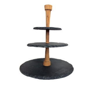 Boska Round Slate 3 Tier Cheese Tower Stand
