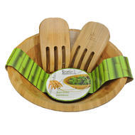 Green Bamboo 3-piece Salad Bowl Set