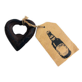 Cast Iron Heart Shaped Bottle Opener