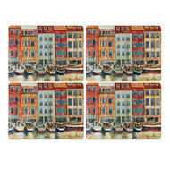 "Pimpernel Placemat Boat Scene set of 4 12""x16"""