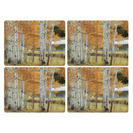 "Pimpernel Placemat Birch Beauty set of 4 12""x16"""