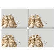 "Pimpernel Placemat Wrendale Owl set of 4 12""x16"""