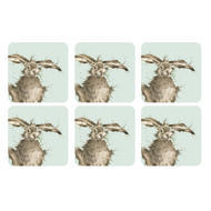 "Pimpernel Coasters -Wrendale Hare, Set of Six  4.25""x4.25"""