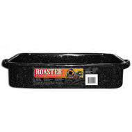 "Rectangular Enamal open Roasting Pan 16"" up to 25 lbs"